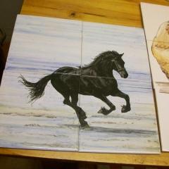 paard op 4 tegels